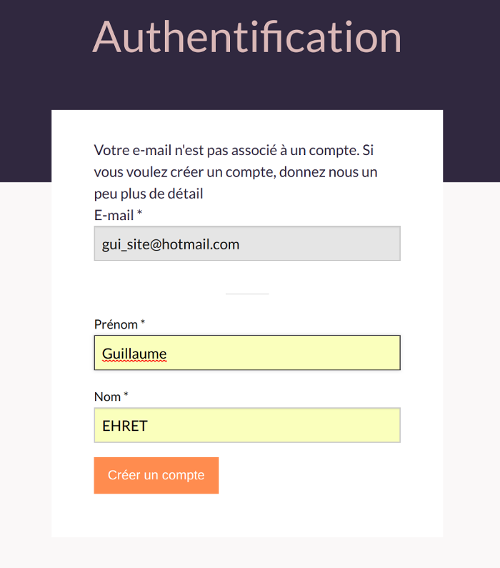 Authentication on website